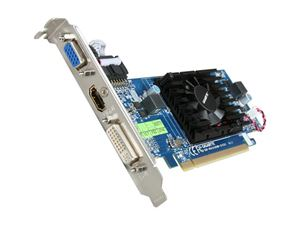Picture of GIGABYTE GVR455HM512I Radeon HD 4550 Supporting up to 512MB(128MB 64-bit GDDR3 onboard) PCI Express 2.0 x16 HDCP Ready Low Profile Rea