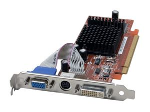 Picture of ASUS EAX300SE/TD/128M Radeon X300SE 128MB 64-bit DDR PCI Express x16 Low Profile Video Card