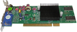 Picture of JATON VIDEO 208PCI 128TV GeForce MX4000 128MB 64-bit DDR PCI Low Profile Ready Video Card