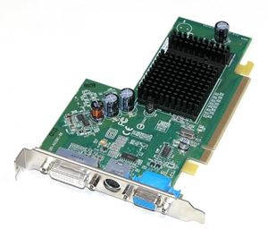 Picture of DELL 0UC996 ATI RADEON X300 SE 320-4310 PCI-E DVI VGA TV VIDEO GRAPHICS CARD
