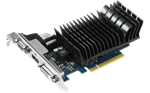 Picture of ASUS GT730-SL-2GD3-BRK NVIDIA GEFORCE GT730 2GB 64-Bit GDDR3 PCI Express 2.0 HDCP READY VIDEO CARD.